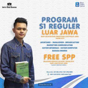 Program S1 Reguler Luar Jawa