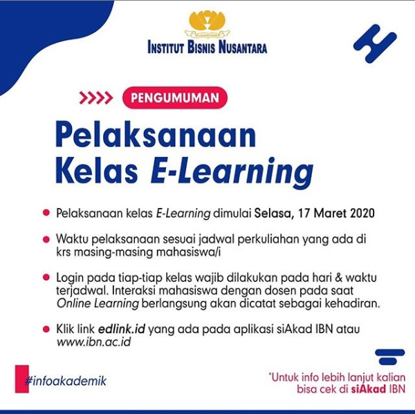 Pelaksanaan Kelas E-Learning