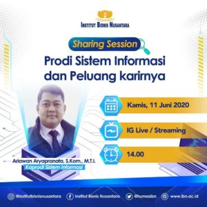 Sharing Session Prodi Sistem Informasi dan Peluang Karirnya