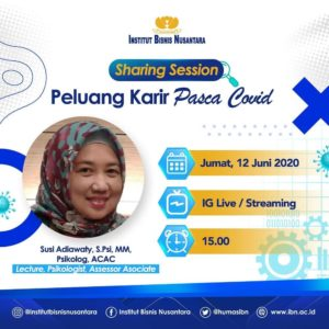 Sharing Session Peluang Karir Pasca Covid