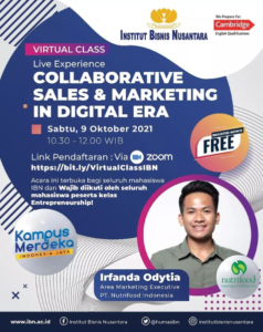 Read more about the article VIrtual Class IBN x Nutrifood (Collaborative Sales & Marketing in Digital Era)